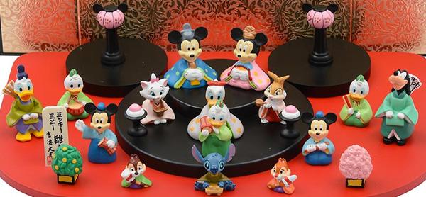 ディズニー 段飾りひな人形
